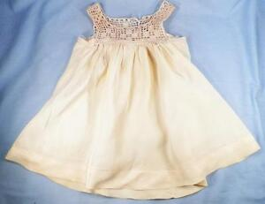 Doll Dress for Vintage Composition Doll Crochet Top Tricot & Net Skirt Off White