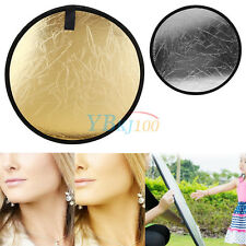 "Portable 23.6"" 60cm 2 in 1 Gold&Silver Photography Studio Light Reflector Board"