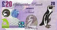 2017 Penguin Series 🐧 AFRICAN PENGUIN 🐧 20 Spheniscidae Pounds 🐧Private Issue