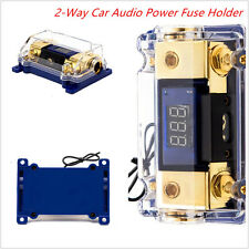 2-Way Car Audio Power Fuse Holder Electrical Connect Spliter Distribution Blocks