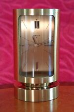 "Vintage Swiss Lacquered Brass Cased 8-Day Cylindrical Case Alarm Clock ""Swiza"""