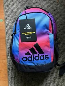 Adidas Young BTS Creator Backpack Black/Pink Multicolor with Lifetime Warranty