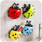 Cute Pocket Ladybug Toothbrush Wall Suction Holder Bathroom Hanger Sucker Hook +