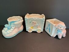 Vintage Inarco Ceramic Baby Planters Floral Baby Shower Set of 3 Made in Japan