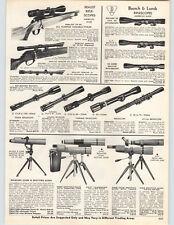 1967 PAPER AD Realist Bausch & Lomb Rifle Gun Scope Telescope Bushnell Balscope