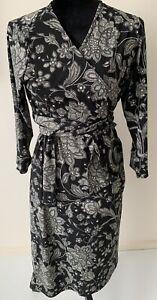 Ripe Maternity Black Floral Pattern Wrap Dress Womens Size XL