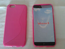 "Custodia cover hot pink S-line per apple iphone 6 6S da 4.7"" silicone tpu fucsia"