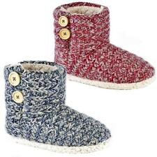 Ladies Slippers Womens Ankle Boots New Fairisle Winter Warm Fur Booties Size