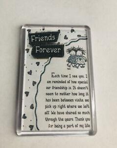 Forever Friends Poem Fridge Magnet. Birthday Gift, Special keepsake. Friend gift
