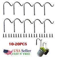 10/20Pcs Iron Wall Hooks Metal Lantern Bracket Coat Hook Plant Planter Hangers