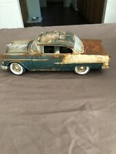 1/18 Scale Die Cast  Barn Find Weathered Junkyard Custom Car 1955 Chevy Belair