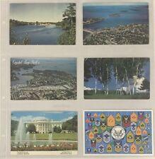 Lighthouse Maximum Wide Pages 6 Pockets Vintage Postcards Horizontal White 5 Pcs