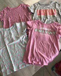 Lot de 8 t-shirts + 1 debardeur fille 10 ans