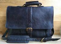 HIDEDESIGN Men's Leather Satchel Laptop Messenger Bag Briefcase - Brown RRP:£240