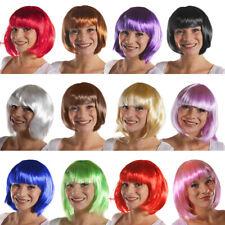 Señoras Corto Bob pelucas para Mujer Cosplay pelucas de Color Pop Fiesta Disfraz Elaborado Vestido