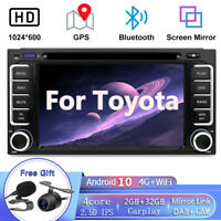 Android10.0 Car Stereo For Toyota Hilux Prado GPS SAT Navi Head unit CD/DVD OBD