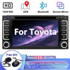 2DIN Android 10.0 Coche Radio Estéreo reproductor de CD/DVD para Toyota Sat Nav GPS WIFI OBD