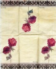 Set of 2 Single Guest Towels Buffet 2-ply Napkins - Kathryn White Floral
