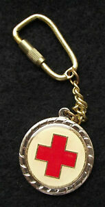 Antique Czechoslovakia Red Cross CSCK Young Medical Worker Key Chain Keyring
