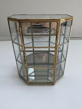 Urban Outfitters Glass/Brass Jewellery Display Box. RRP £48