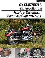 Harley-Davidson XL883 XL1200 Sportster EFI Cyclepedia Printed Motorcycle Manual