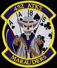 USAF 432 ATKS -ATTACK SQ- MARAUDERS MQ-9 Reaper DRONE UAV ORIGINAL PATCH