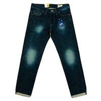 Hommes'S G-Star 3301 Bas Coupe Fuseau Jeans Bleu Taille W29