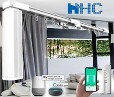 10 ft Smart Electric Curtain Track, Automatic Curtain System,Mobile/Alexa/Google