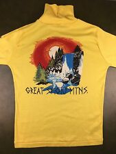 Vintage Mens M 70s 80s Gatlinburg Great Smoky Mountains Long Sleeve NOS T-Shirt