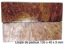 PLAQUETTES DE LOUPE DE PADOUK POUR COUTELLERIE * BURKINA FASO