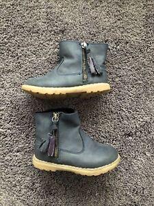 Next Girls Navy Blue Boots Size 7