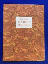 SIXTEEN SONNETS - SIGNED LIMITED EDITION BY JOHN UPDIKE