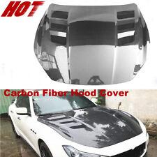 Fits Maserati Ghibli 2014-2020 Engine Hood Bonnet Lid Cover BodyKit Carbon Fiber
