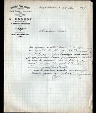"""JUSSY-le-CHAUDRIER (18) BRIQUETERIE & TUILERIE """"L. COGNOT"""" en 1895"""