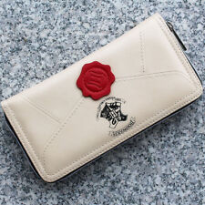 Lovely Harry Potter Letter Cream Coin & Zip Around Wallet Purse For Women Gift