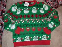 NEW ALEX STEVENS Crew UGLY Holiday Christmas Sweater Men 2XL XXL Santa NWT