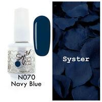 SYSTER 15ml Nail Art Soak Off Color UV Lamp Gel Polish N070 - Navy Blue