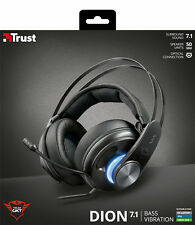 TRUST DION 22055 GXT383 7.1 SURROUND SOUND BASS VIBRATION USB OVER-EAR HEADSET