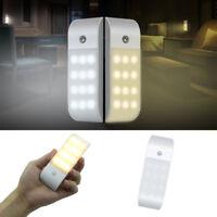RECHARGEABLE USB 12 LED PIR MOTION SENSOR INDUCTION NIGHT LIGHT CABINET LAMP POU