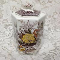 Antique, Masons, England, Ascot  6in x 4in Tea Jar