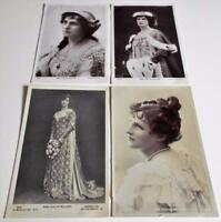 Miss Evelyn Millard - 4 x Real Photo Postcards of Edwardian Actress (b)