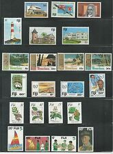 FIJI, MHG COLLECTION OF 6 ISSUES OF COMPLETE SETS