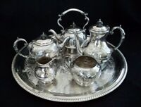 Vintage English Silverplate Sheffield Tea & Coffee set - 6 Pieces