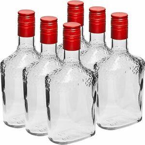 6psc Safari GLASS Bottles For Spirit Liquor 500ml Home Brewing Screw Cap
