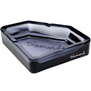 AMNDASHTRAYBLK-1S New Authentic $100 Diamond Supply Co Glass Ashtray Smoke Black