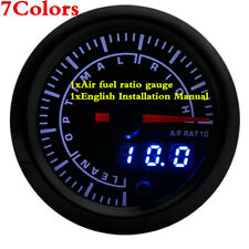 2Inch 52mm 7 Color Show Car Auto Air Fuel Ratio Gauge Meter Universal Meters Kit