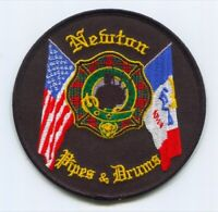 Newton Fire Department Pipes and Drums Patch Iowa IA