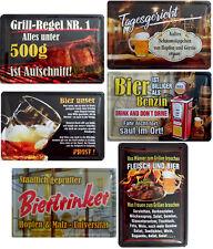 Blechschild Schild 20x30cm Bier unser Biertrinker Schaumsüppchen Fleisch Grill