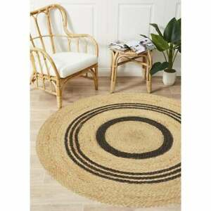 Handmade Braided Natural Jute Handwoven Eco Solid Round Shaped Area Rug Carpet