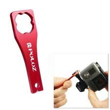 Maletines, bolsas y fundas rojos de aluminio para cámaras de vídeo y fotográficas